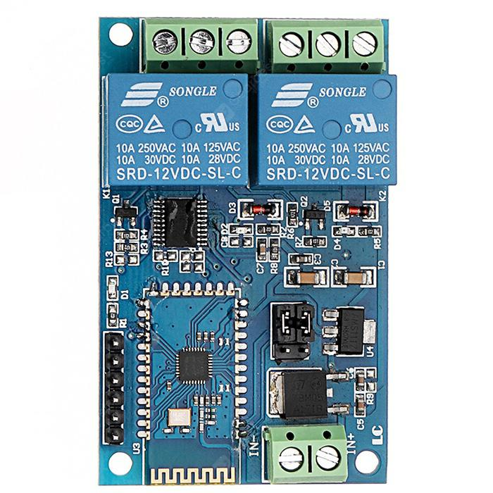 DC 12V 2 Channel IOT Smart Bluetooth Relay Module