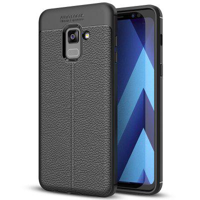 TPU Litchi Grain Phone Case for Samsung Galaxy A8 Plus / A7 / A730F