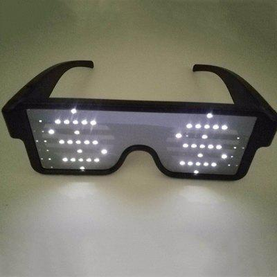 Cool LED Illuminating Function Display Glasses