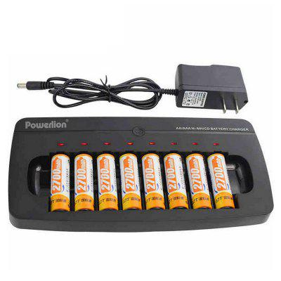 Powerlion Multi-function NiMH Charger 8 Slot Smart for AA / AAA Battery