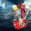 Intelligent Motorcycle Engine Model with Light Sound Toy for Kids - RED