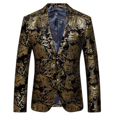 Men's Fashion Printing Casual Suit