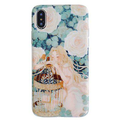 Caixa de telefone móvel Napping Girl para iPhone XS Max