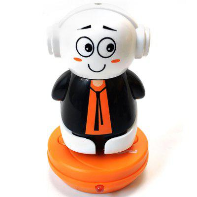 Pop-top Can Mini Electric Infrared Shaking Head Cartoon Remote Control Robot Toy