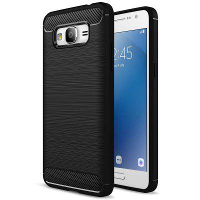 Carbon Fiber Brushed Silicone Phone Case for Samsung Galaxy J2 Prime / G530 / Grand Prime
