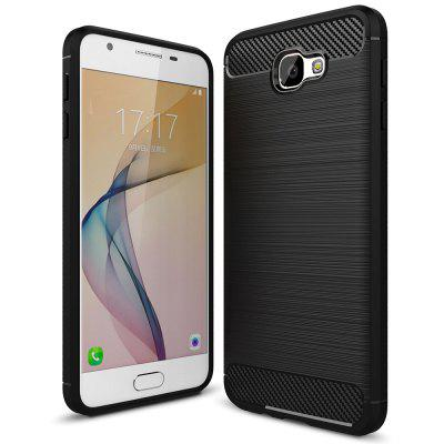 Carbon Fiber Brushed Silicone Phone Case for Samsung Galaxy J5 Prime / On 5