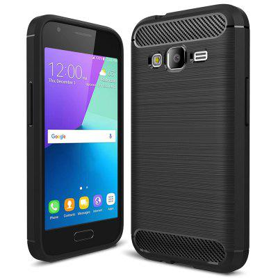 Carbon Fiber Brushed Silicone Phone Case for Samsung Galaxy J1 Mini Prime