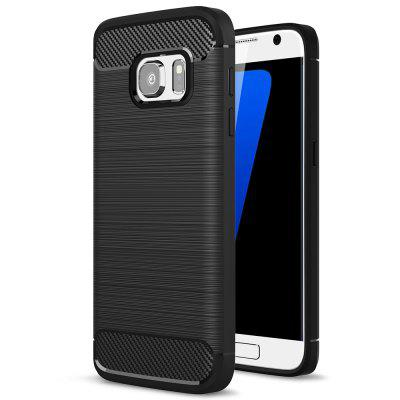 Carbon Fiber Brushed Silicone Phone Case for Samsung S7