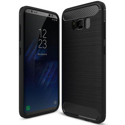Carbon Fiber Brushed Silicone Phone Case for Samsung Galaxy S8