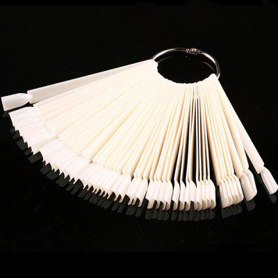 50pcs Scalloped Nail Polish Tool