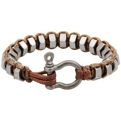 Iron Ring Copper Buckle Hand-woven Bracelet