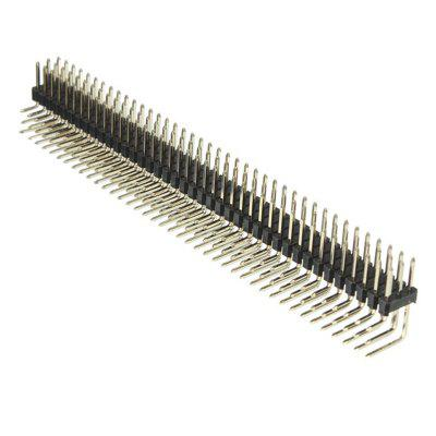 Male Three Row Right Angle Pin Header