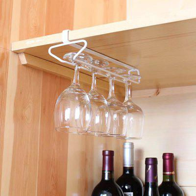 BATHINF Free Installation Single Row Red Wine Glass Holder