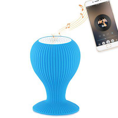 Refurbished Creative Mini Bluetooth Speaker Phone Stand with Suction Cup, Speakers