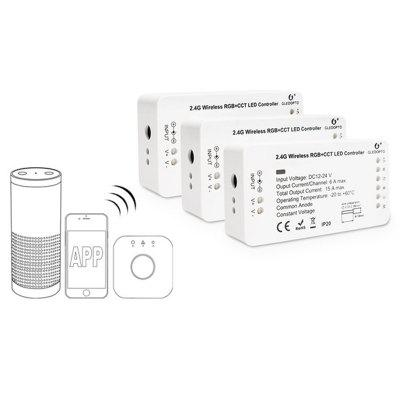 GEDOPTO C - 008 ZIGBEE RGB / CCT LED páskový ovládač DC 12 - 24V Kompatibilný s Amazon Echo plus / Osram Lightify