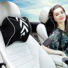 Y01 Car Headrest Memory Cotton Pillow - BLACK