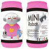 Ring-pull Can Mini Barrel Mounted Remote Control Robot - HOT PINK