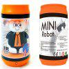 Pop-top poate Mini Electric infraroșu Shaking Head Cartoon Remote Control Robot Toy - DARK ORANGE