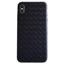 Luxury Leather Weave Woven Mobile Phone Case for iPhone XS Max