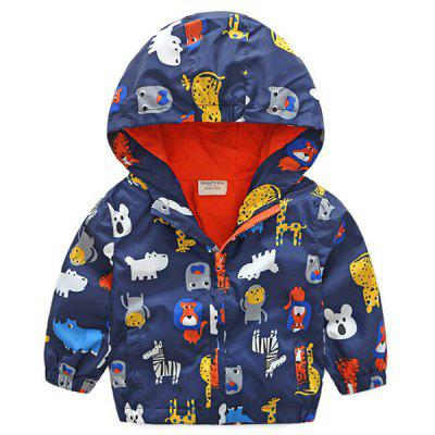 Children Boys Jacket Baby Hooded Trench Coat