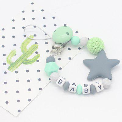 Baby Products Silicone Nipple Clip Teeth Rubber Pacifier Chain