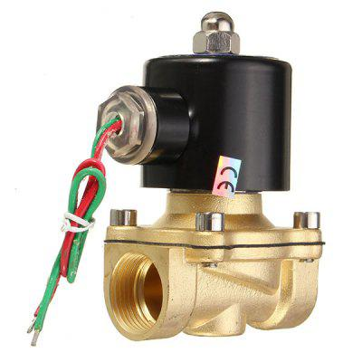 2W - 200 - 20 AC 220V 3/4 Brass Electric Solenoid Valve Water Air Fuels