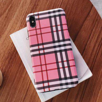 Rosa Plaid Smartphone Hülle für iPhone XS Max