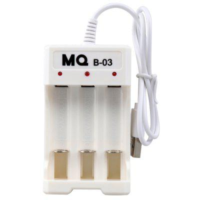 3 Slot Charger Three Section Rechargeable AA / AAA Nickel Cadmium Battery USB Charging Stand
