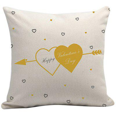 Valentine's Day Cotton Linen Pillow