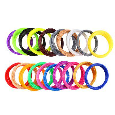 20 Colors 5m ABS / PLA 1.75mm Plastic Filament for 3D Printer / Pen