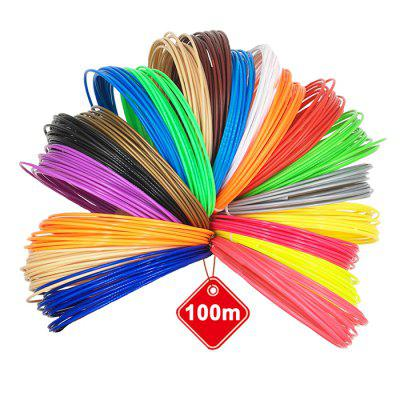 20 Colori 5m Stampante 3D ABS / PLA Filamento 1,75 mm / 3 mm Precisione Dimensionale +/- 0,03 mm