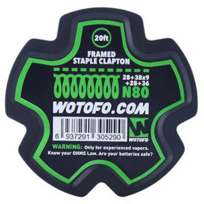 Wotofo Framed Staple Clapton Heating Wire 20ft / Spool