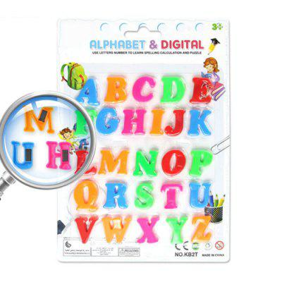 Color Digital Magnetic Letters Children's Educational Toys Russian Characters