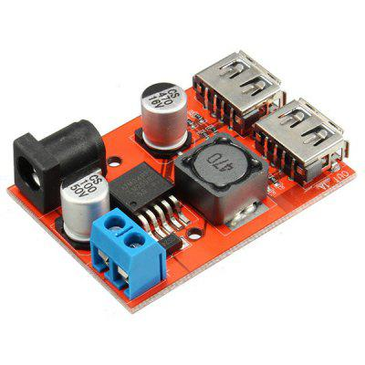 Electronics DC - DC 9V / 12V / 24V / 36V to 5V Dual USB Power Supply Module Vehicle Charging Solar 3A Voltage Regulator Board