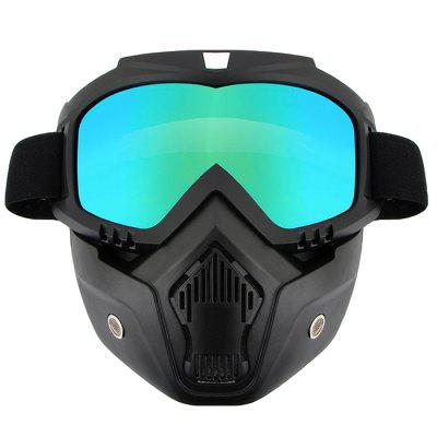 R017 New Strange Riding Detachable Mask Goggles Motorcycle Goggles Protective Glasses Fashion Goggles