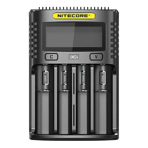 Gearbest Nitecore UMS4 LCD Screen USB Battery Charger for Daily Use - BLACK