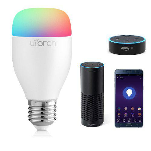 Gearbest Utorch LE7 E27 WiFi Smart LED Bulb App / Voice Control 1PC - WHITE 1PC 16 Million Colors Support 2700 - 6500K Works With Amazon Alexa IFTTT Google Home