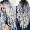 Female Fashion Long Curly Synthetic Wig - SILVER