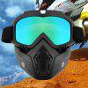 R017 New Strange Riding Detachable Mask Goggles Motorcycle Goggles Protective Glasses Fashion Goggles - BLACK