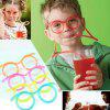 Cute Funny Creative Lazy Drinking Glasses Straw - DEEP SKY BLUE