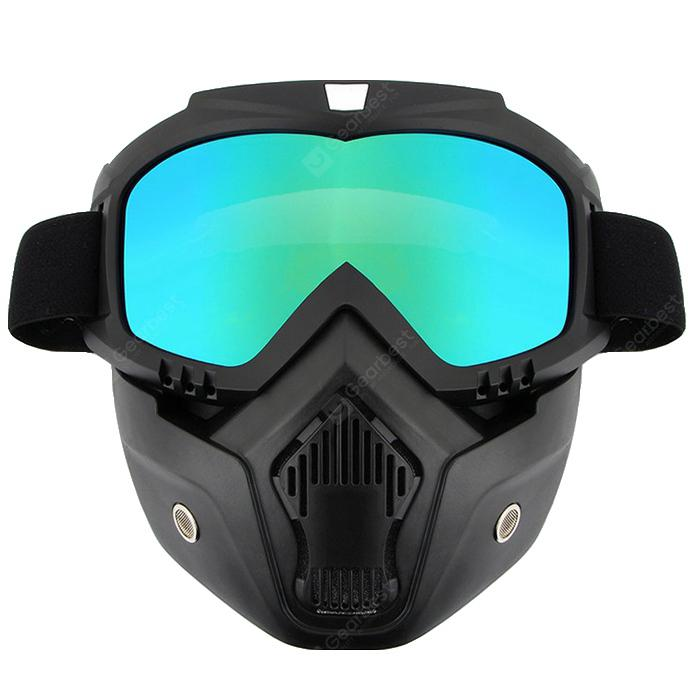 R017 New Strange Riding Detachable Mask Goggles Motorcycle Goggles