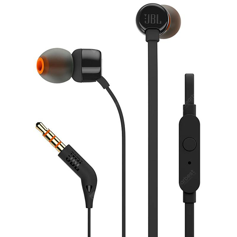 JBL T110 Original In-ear Earphones Sport Music Pure HIFI Bass Stero Sound Headset With Microphone For iPhone Smartphone Android ??