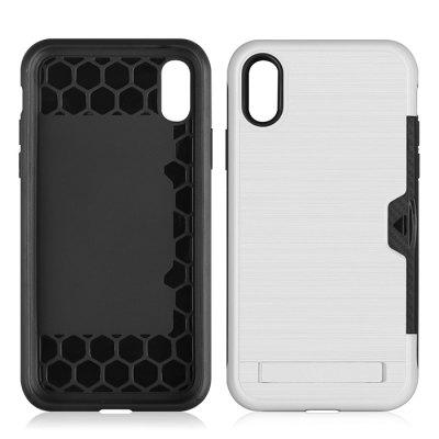 Ultra-thin TPU+PC Two-in-one Brushed King Mobile Phone Case for iPhone XS Max 6.5 inch