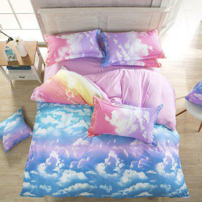 Nordic Minimalist Home Dream Fashion Blue Sky Print Bedding Set