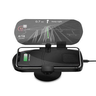 HUD Qi 10W Wireless Charging Car Phone GPS Navigation Image Reflector