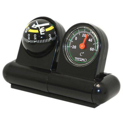 Multifunctional Vehicle Car Decoration Compass Ball with Thermometer