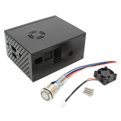 Raspberry Pi X820 V3.0 SSD HDD SATA Storage Board Matching Metal Case Enclosure Power Control Switch Cooling Fan Kit