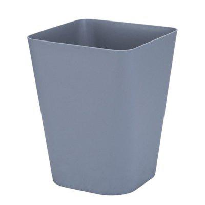 European Creative Plain Color Coverless Home Bathroom Kitchen Trash Can