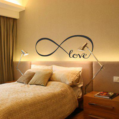 8274S Loop Love Home Decoration Removable Wall Sticker