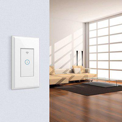 CD301 1 Gang AC 110 - 125V Smart WiFi LED Light Wireless Wall Switch Panel Mobile APP Remote Control